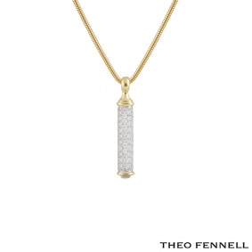 Theo Fennell Yellow Gold Diamond Shaft Pendant